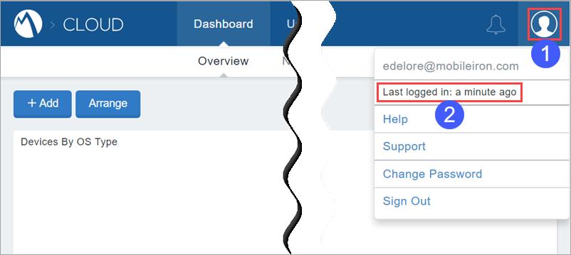 MobileIron Cloud Help - Managing Multiple Admin Logins